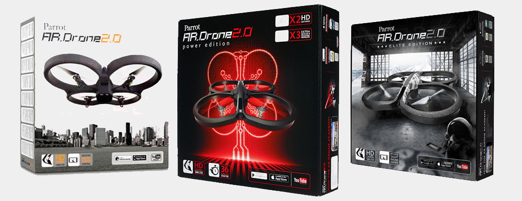 Ar.Drone 2.0,Ar.Drone 2.0 Power Elbtion, Ar.Drone 2.0 Elite Edition
